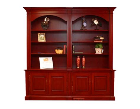 Cherry Double Bookcase Is Piece Of The Week High End Bookshelves