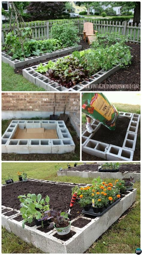 diy backyard projects pinterest diy cinder block raised garden bed ideas best blocks on