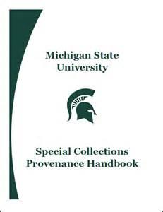 adversaria special collections provenance at msu
