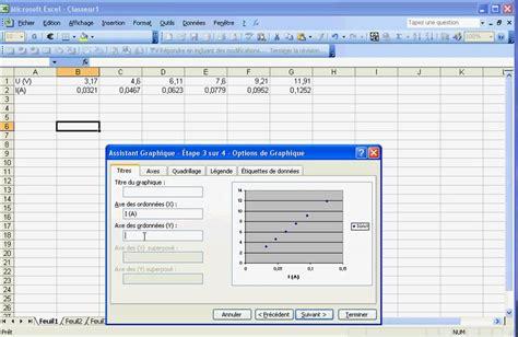comment faire un graphique excel comment faire un graphique courbe sur excel 2003