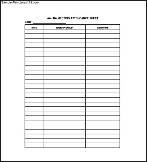 meeting attendance list template meeting attendance list template lexu tk
