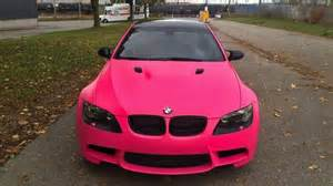 bmw m3 wrapped in matte pink
