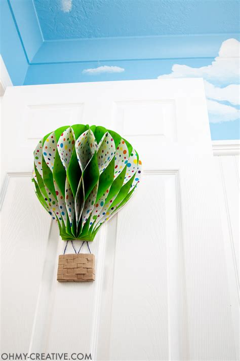 Handmade Air Balloon Decorations - diy air balloon decor oh my creative