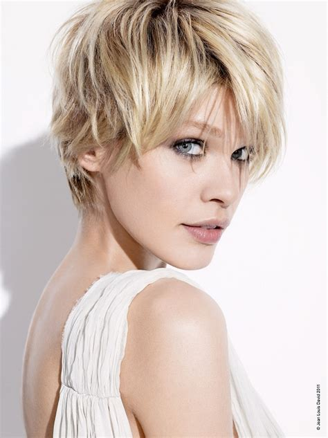 a short blonde hairstyle from the jean louis david