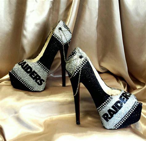 raiders high heels oakland raiders high heels more styles by myprincessplatforms