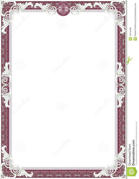 Frame For Diploma Or Certificate Stock Illustration