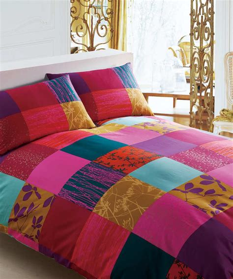 Patchwork Bed Cover - branded bed linen klimt patchwork king cover in multi