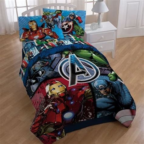 the avengers reversible marvel comics bed set twin full