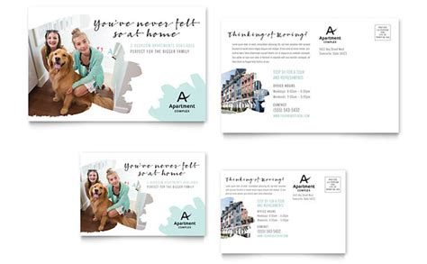 property management postcards templates apartment postcard template design