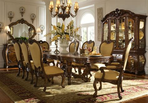 traditional dining room sets michael amini palais royale rococo cognac traditional dining room set by aico