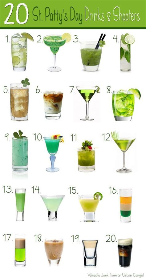 cocktail drinks names st patty s day drinks 26 themed st patty s day drinks