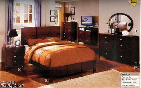 new 5pc all wood contemporary bedroom set cm7823l