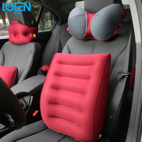 Bantal Travel Inflateable Back Support popular lumbar support car buy cheap lumbar support car lots from china