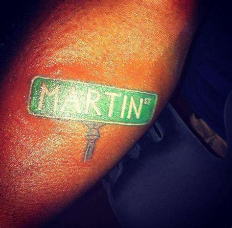 street sign tattoo martin st sign martin st shading