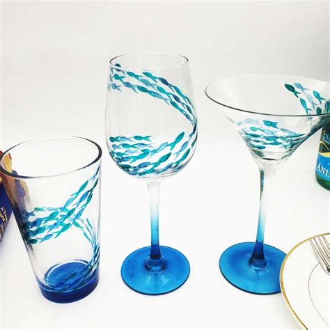 Handmade Glassware - diy custom wine glasses and unique glass painting designs