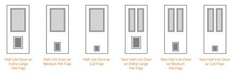exterior door with pet door feather river doors pet door collection