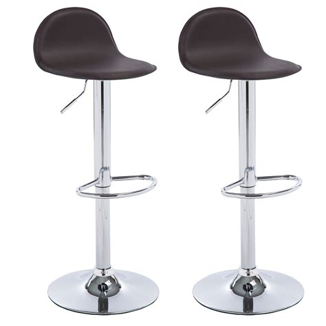 Leather Kitchen Stool by 2 X Bar Stools Faux Leather Kitchen Breakfast Chrome