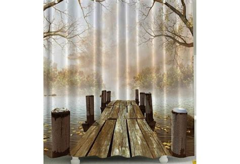 Shower Curtains Rustic Rustic Dock On The Shower Curtain
