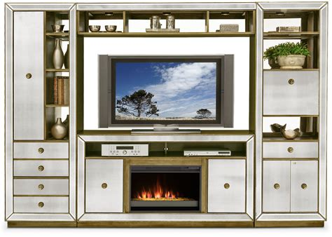 entertainment wall units with fireplace reflection 4 entertainment wall unit with contemporary fireplace mirror american
