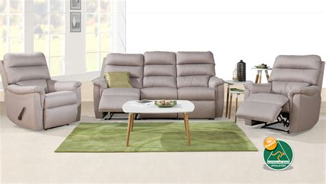 recliner suites turin australian made 3 seater fabric recliner suite