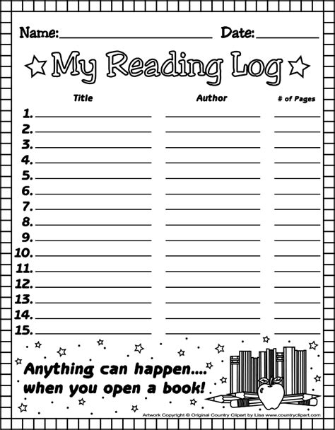 4th grade reading log template twinkle teaches reading logs