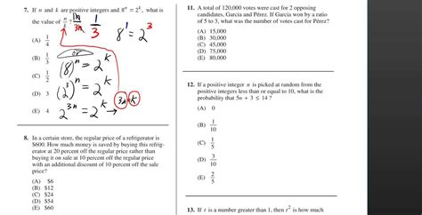 sat practice test section 4 answers sat math practice test with answers sat maths practice