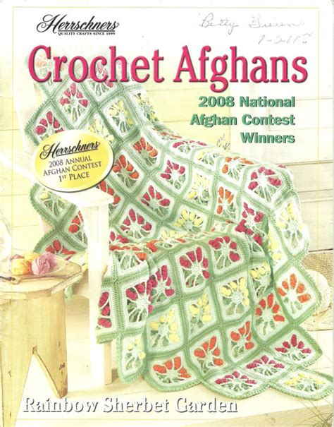 pattern review contest winners herrschners crochet afghans 2008 national contest winners