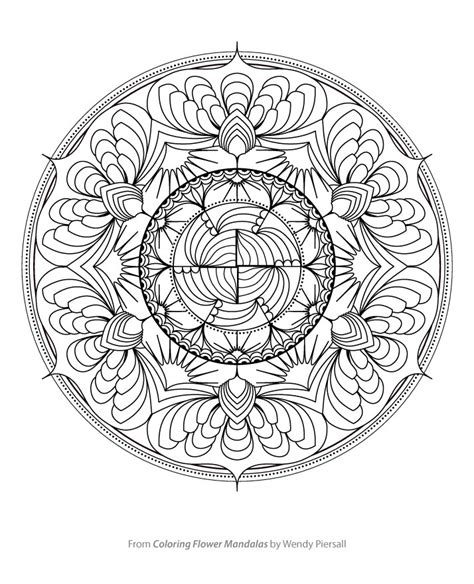 the artful mandala coloring book creative designs for and meditation free sle from coloring flower mandalas wendypiersall