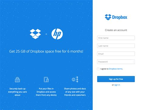 dropbox not working is my hp device eligible for the dropbox space promotion