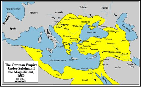 map of ottoman empire 1500s in the ottoman empire