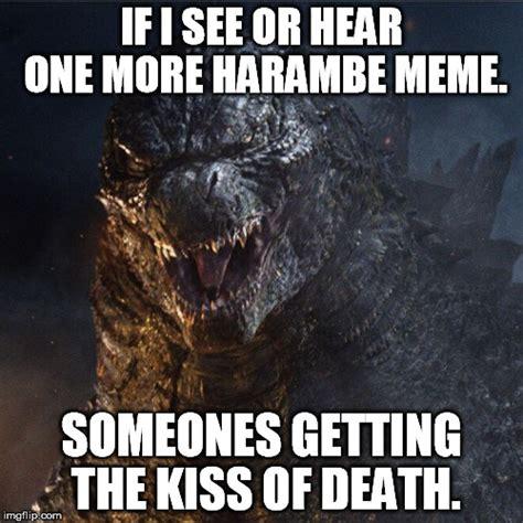 Godzilla Meme - meme godzilla s tired of harambe by wolfblade111 on