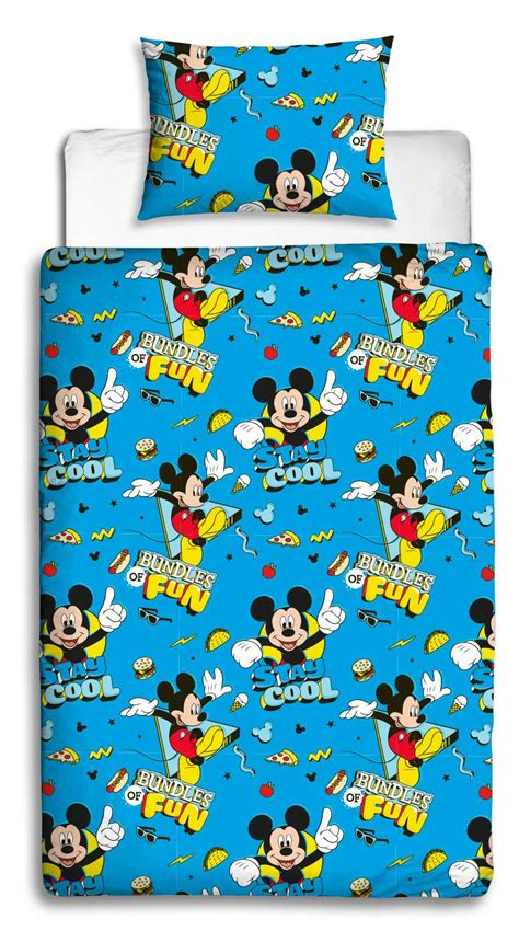 Bedcover Set Single No3 Motif Mickey Mouse mickey mouse cool rotary single duvet cover set