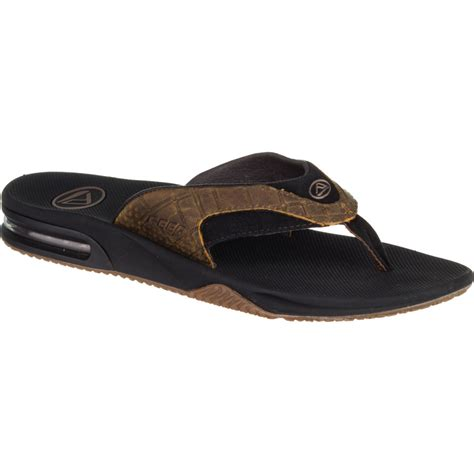 reef fanning flip flops reef leather fanning flip flops men s backcountry com