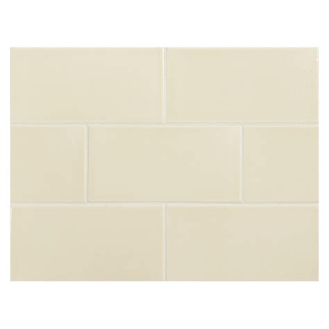 Glass Subway Tile Kitchen Backsplash vermeere ceramic tile dk cream gloss 3 quot x 6 quot subway tile