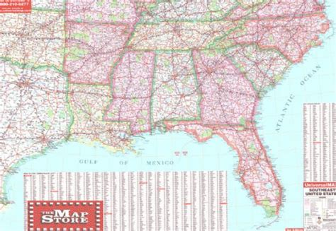 road map south east usa object moved