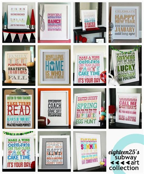 Eighteen25 Subway Art Collection Free Printables Pin Worthy Pinterest Awesome Poster Subway Poster Template