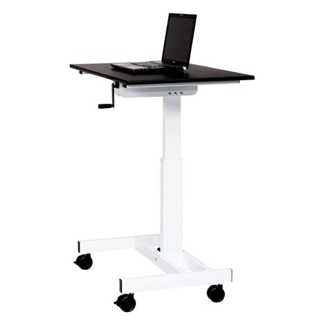 adjustable height stand up desk luxor adjustable height stand up desk black and white
