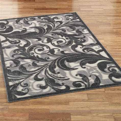 tantalizing graphic scroll ivory gray rugs