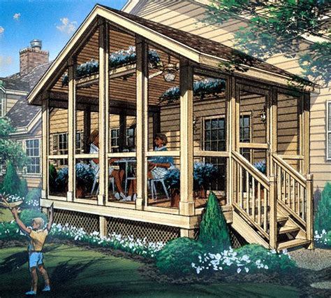 screened in deck plans project plan 85933 screened porch