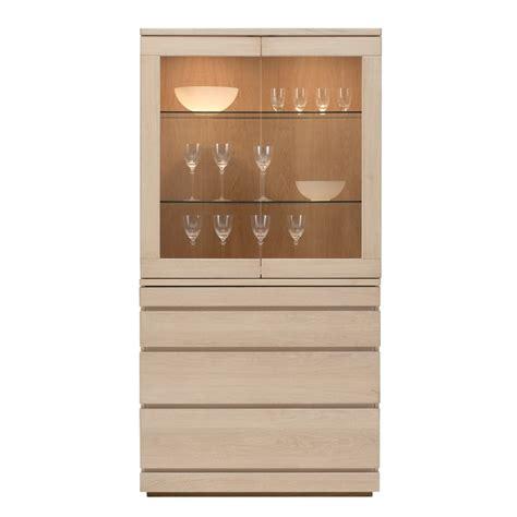 Oak Display Cabinet by Modern Home Storage Skovby Glass Oak Display Cabinet 85 84