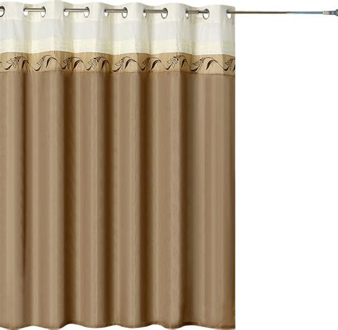 shower curtains with large grommets lavish home abilene embroidered shower curtain w grommets