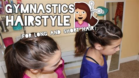 short hair gymnastics style gymnastics hairstyle for long and short hair youtube