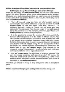 Self Respect Definition Essay by Calam 233 O Self Respect Essay Reveal The Major Ideas Of Great