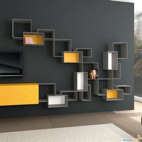 estantes modulares muebles tv integrados con biblioteca 75 ideas modernas