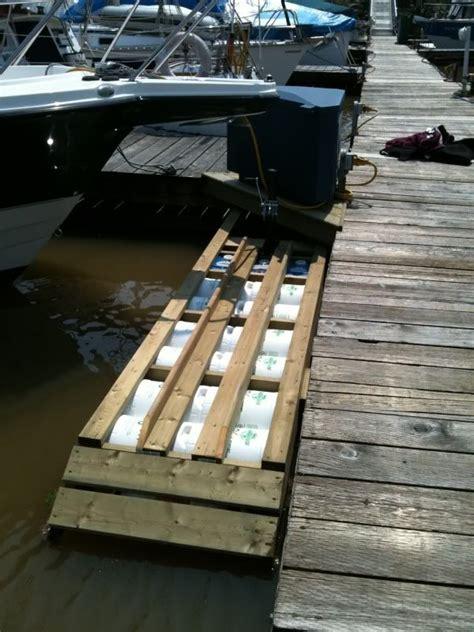 diy floating boat docks diy floating dock r progress thread page 2 boat