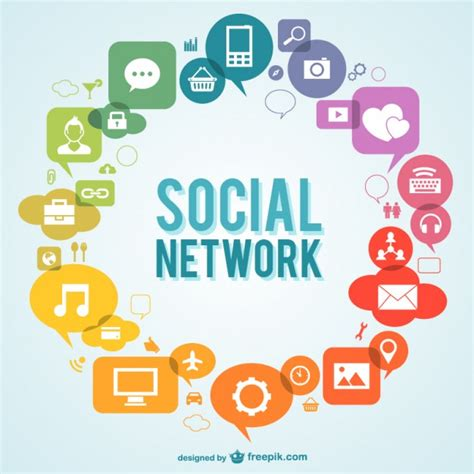 free sosial network icon social network icons vector free download