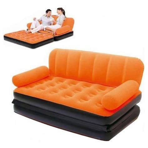 air sofa 5 in 1 bed colorfull air lounge double sofa cum bed 5 in 1 in