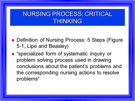 Rn Mba Meaning by Definition Of Critical Thinking In Nursing Process