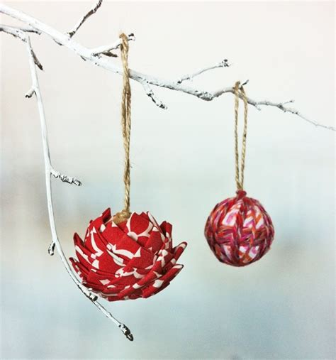 Handmade Fabric Ornaments - handmade fabric tree ornaments crafts with