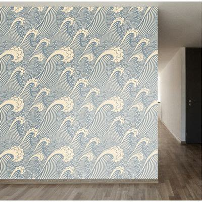 removable wallpaper reviews walls need love waves of chic removable 8 x 20 quot scenic